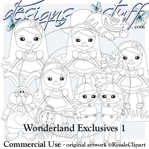 Wonderland Digital Stamps Exclusives 1