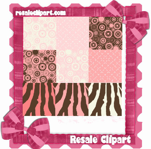 Boutique Pink n Brown Backgrounds CU