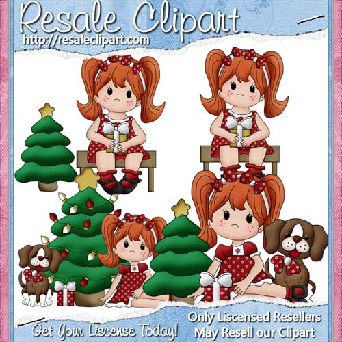 Christmas Time Girls Redhead CU