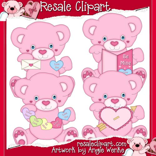 Valentine Teddies Dark Pink exclusive CU