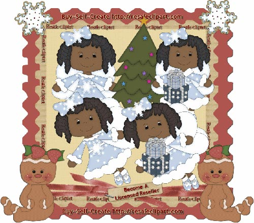 Holiday Fairies African CU