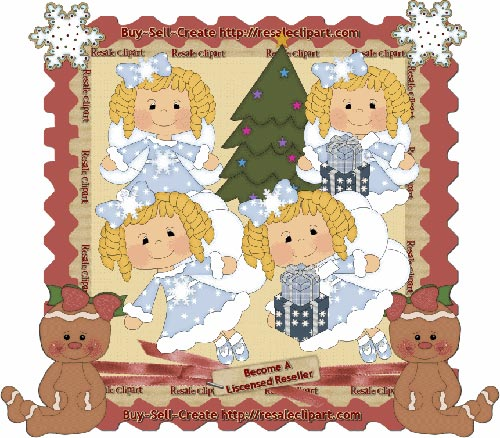 Holiday Fairies Blonde CU - Click Image to Close