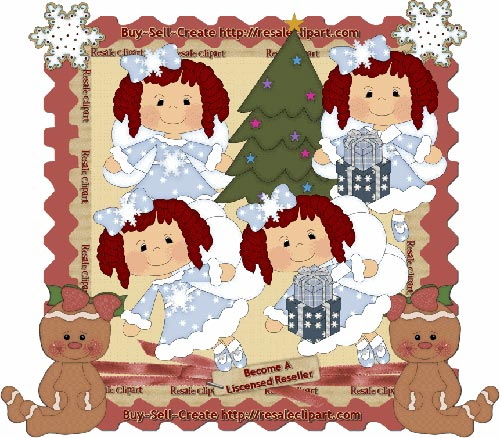 Holiday Fairies Red CU - Click Image to Close
