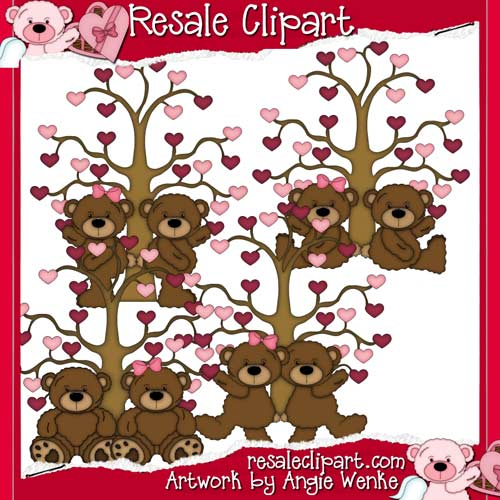 Tattered Teddies Valentines 2 CU